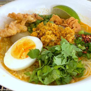 ミャンマーの国民食「モヒンガー」を習ってみたよ。